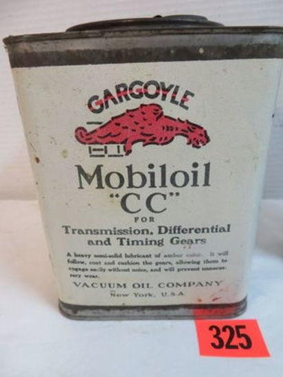 "Vintage Mobil Gargoyle ""CC""Gear Oil Can"