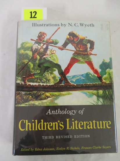 """anthology Of Children's Literature"" Hardcover Illustrated Book (1959)"