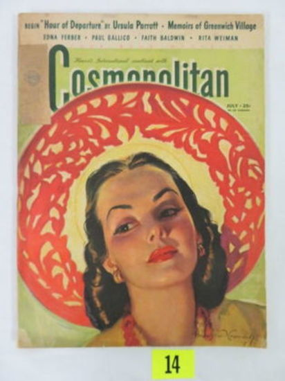 "Cosmopolitan Magazine (july 1941) ""summer Glow"" Cover Art By Bradshaw Crandell"