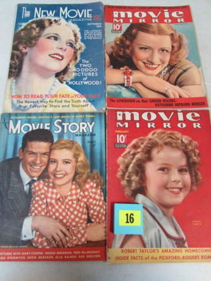 Lot (4) Asst. 1930's Movie Magazines