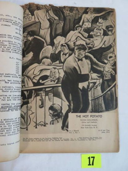 "Very Rare 1932 ""the Hot Potato"" Vol.1 #1 Prohibition Magazine"