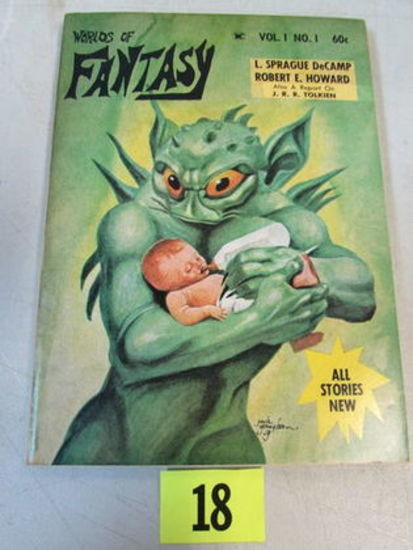 Worlds Of Fantasy Vol. 1 #1 (1968) Sci-fi Paperback / Howard