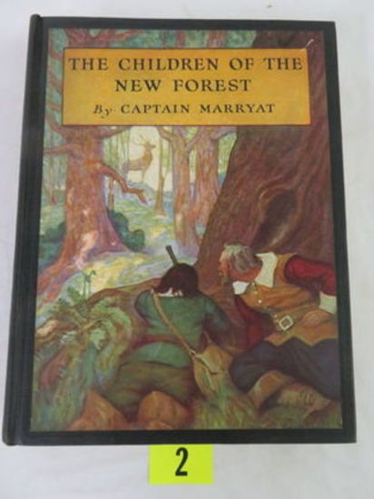 """the Children Of The New Forest"" (first Edition) Illustrated Hardcover Book By Captain Marryat"
