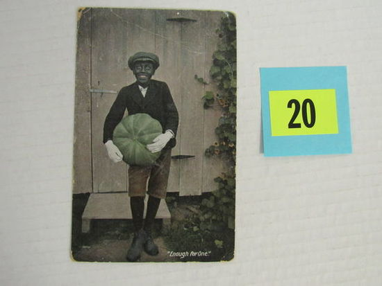 "1911 Postcard ""enough For One"" White Boy In Blackface"