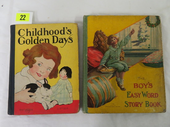 Lot Of (2) Antique Hardcover Illustrated Children's Books