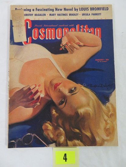 "Cosmopolitan Magazine (aug. 1941) ""vacation Days"" Cover Art By Bradshaw Crandell"