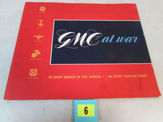 Rare 1940's Gmc At War Book