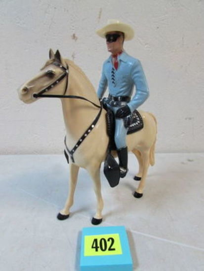 Vintage 1950's Hartland Lone Ranger And Silver Figure Set