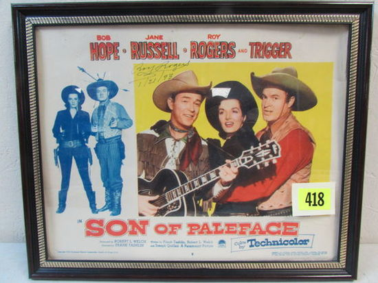 Original 1952 Son Of Paleface Roy Rogers Signed Movie Lobby Card