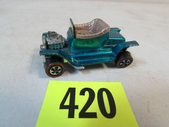 Vintage 1968 Hot Wheels Redline Hot Heap Aqua