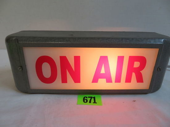 Vintage ON AIR Lighted Recording Studio Box Sign