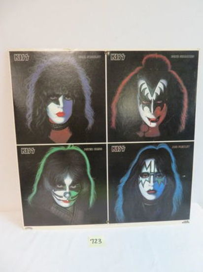 "Rare! 1978 ""KISS"" Dbl Sided Store Display Sign"