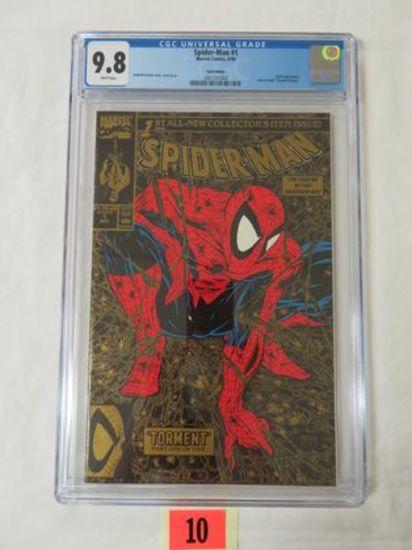 Spider-man #1 (1990) Mcfarlane Cover Gold Edition Cgc 9.8