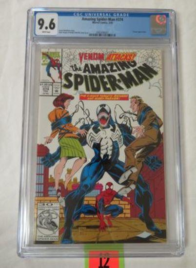 Amazing Spider-man #374 (1993) Classic Bagley Venom Cover Cgc 9.6
