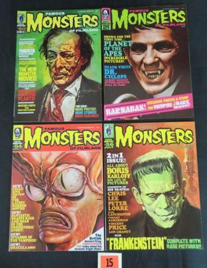 Famous Monsters Of Filmland #52, 54, 56, 60 Silver Age Warren Pub.