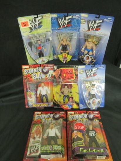 Lot (8) Asst. Jakks Pacific Wrestling Figures Moc Wwe Wwf