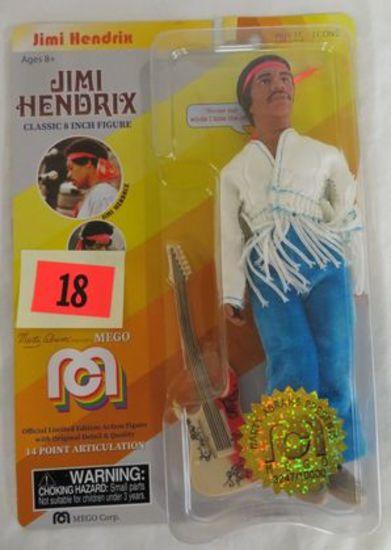 """2018 Mego Jimi Hendrix 8"""" Figure Sealed Moc"""