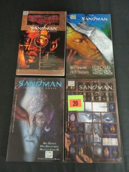 Lot (4) Early Sandman Tpb's Including Preludes & Nocturnes