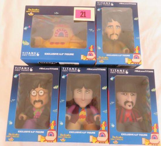 Titan Toys The Beatles Yellow Submarine Vinyl Set (5)