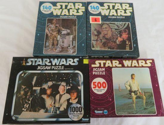 (4) Rare Original 1977-78 Star Wars Jigsaw Puzzles Sealed Mib