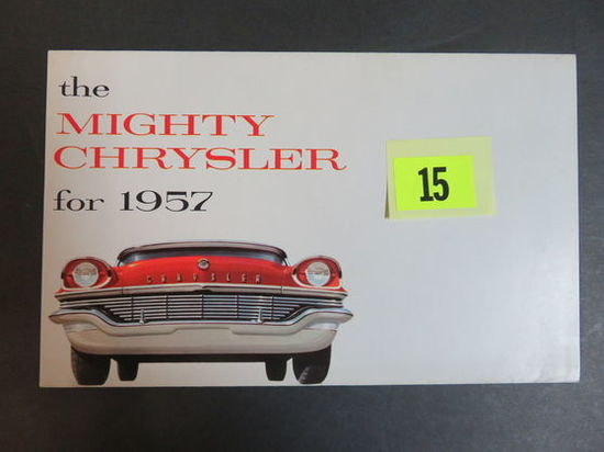 1957 Chrysler Auto Brochure/Poster