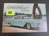 1958 Chevrolet Auto Brochure/Poster