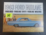1963 Ford Fairlane Auto Brochure