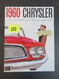 1960 Chrysler Auto Brochure