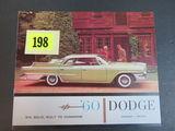 1960 Dodge Auto Brochure