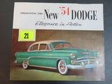 1954 Dodge Auto Brochure/Poster