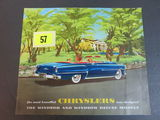 1953 Chryslers Auto Brochure