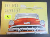 1954 Chevrolet Auto Brochure