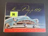 1951 Dodge Auto Brochure/Poster