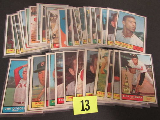 Lot (40) 1961 Topps Baseball Cards Mostly Different