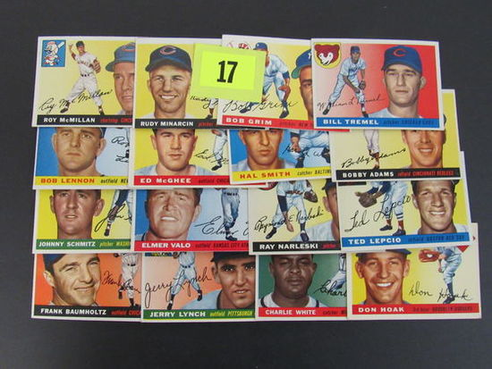 Lot (16 Diff) 1955 Topps Baseball Cards