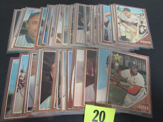 Lot (40+) 1962 Topps Baseball Cards Mostly Different