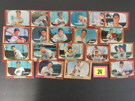 Lot (20 Diff) 1955 Bowman Baseball Cards