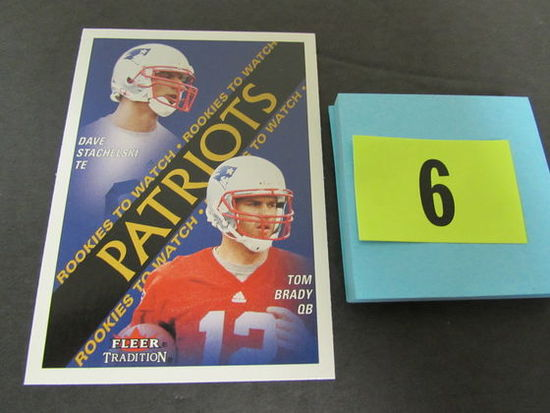 2000 Fleer Tradition #352 Tom Brady Rc Rookie Card