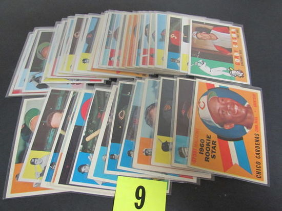 Lot (40+) 1960 Topps Baseball Cards Mostly Different