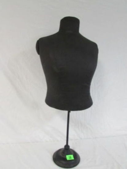 """Antique Dress Form On Old Cast Iron Stand 32"""" Tall"""