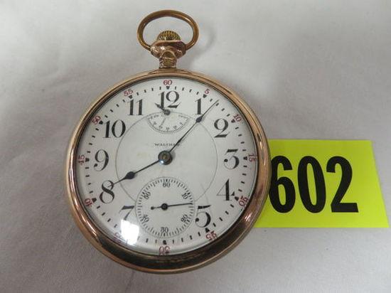 Antique 1907 Waltham Vanguard 23 Jewel Size 18 Pocket Watch