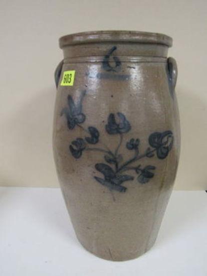 Antique 6 Gal Stoneware Butter Churn