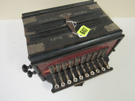 Early Antique Bugle Band Accordian By A. Koch