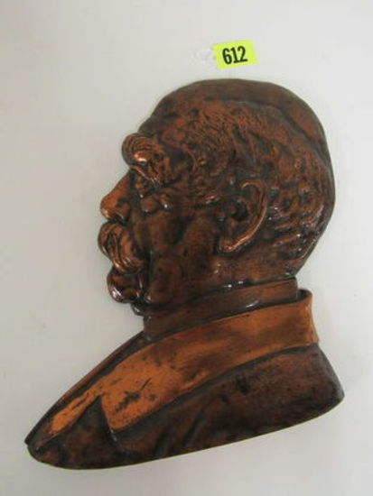 Antique Kaiser Wilhelm Cast Iron Building Plaque, Made in Germany