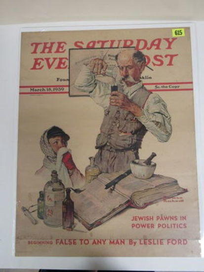 March 1939 Saturday Evening Post News Stand Poster (Norman Rockwell)