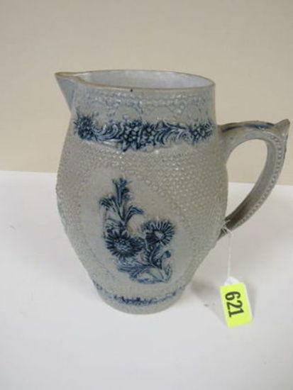 Early German Salt Glaze Stoneware Pitcher