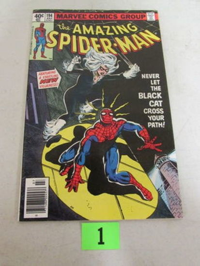 Amazing Spiderman #194 (1979) Key 1st Appearance Black Cat