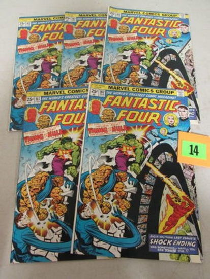 Lot (5) Fantastic Four #167 (1976) High Grade Bronze/ Classic Hulk/thing