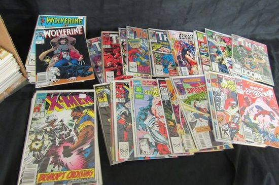 Short Box (approx. 125+) Mostly Copper Age Marvel X-men, Thor, Wolverine+