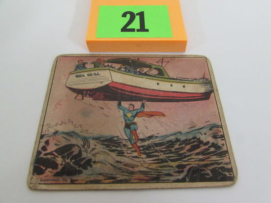 Rare 1940 Gum Inc. Superman Card #10